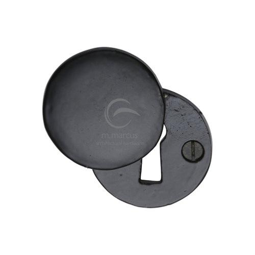 M.Marcus Black Rustic Iron FB554 Lever Key Swing Cover Escutcheon