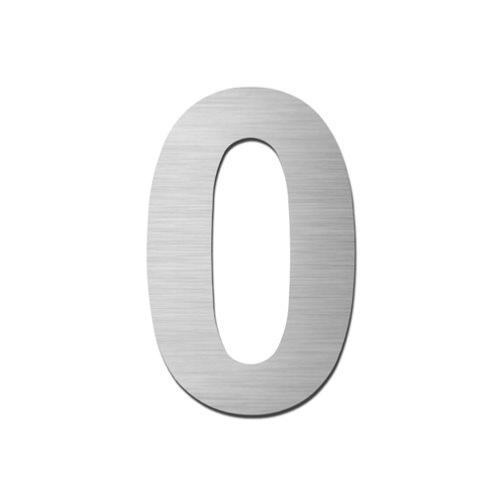 Brushed stainless steel 150mm door/house number - 0