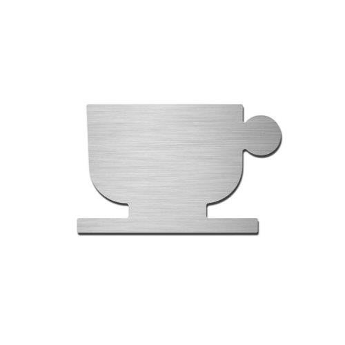 Brushed stainless steel cafe pictogram