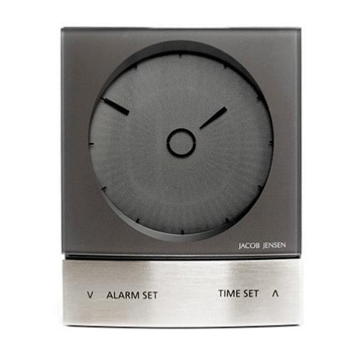 Jacob Jensen wake up clock anthracite