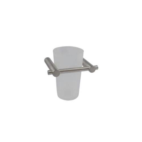 Cool Line brushed stainless steel wall mounted tooth mug holder