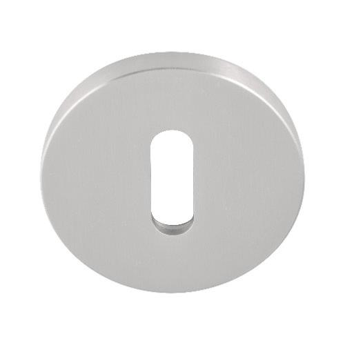 Fold TBN50 brushed stainless steel lever key escutcheon