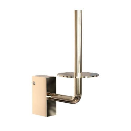 FROST Quadra Gold Spare Toilet Roll Holder