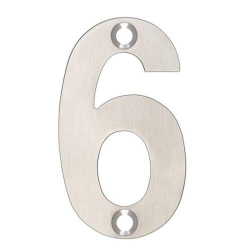 ARKITUR Brushed Stainless Steel 50mm High Door/House Number - 6/9