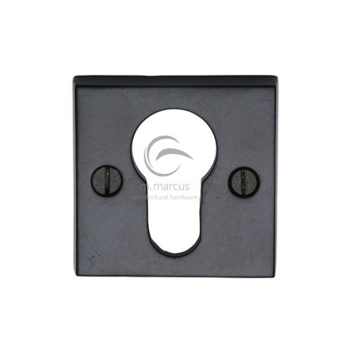 M.Marcus Black Iron Rustic FB158 Square Euro Profile Escutcheon