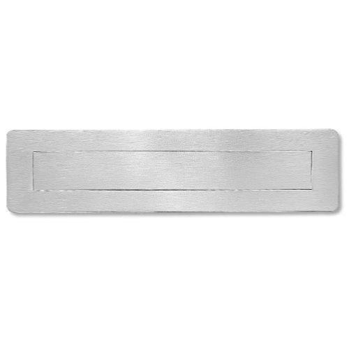 Brushed stainless steel letter box plate or internal flap