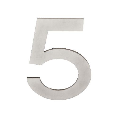 Stainless steel 150mm secret fix door/house number - 5