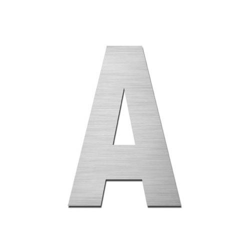ARKITUR brushed stainless steel 75mm high self adhesive capital letter - A