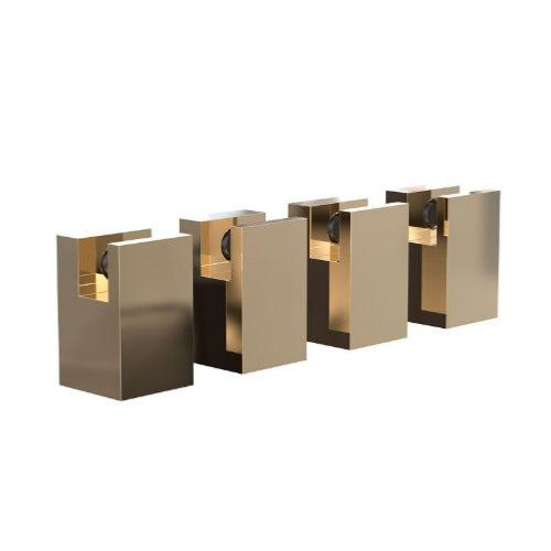 FROST Quadra Gold Mirror Holder Set 5