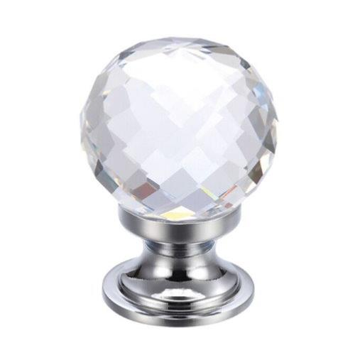 Fulton and Bray Facetted Glass Ball Cabinet Knob