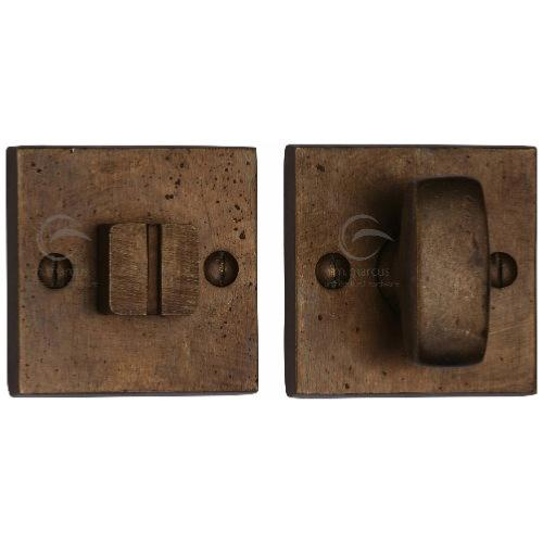 M.Marcus Solid Bronze Rustic RBL155 Square Turn and Release Set