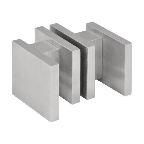 LSQ60G stainless steel square knobs for glass door on rose.