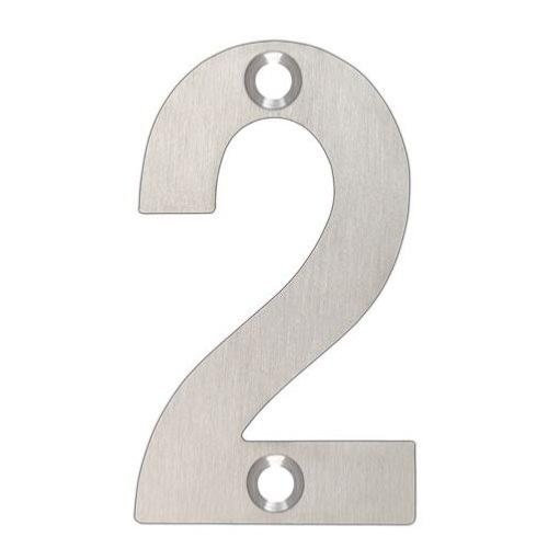 ARKITUR Brushed Stainless Steel 50mm High Door/House Number - 2