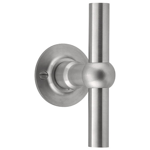 FVT110V52 stainless steel fixed knob on rose