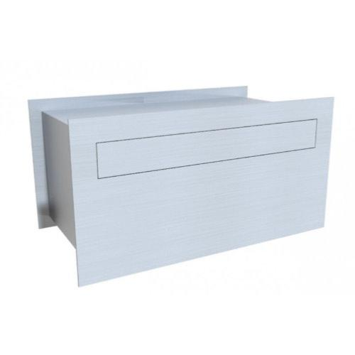 Centauri stainless steel mailbox with adjustable sleeve