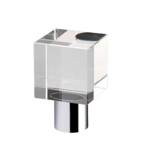 Fulton and Bray Glass Cube Cabinet Knob