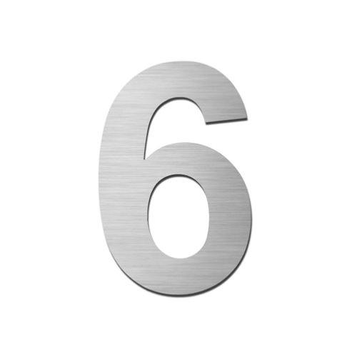Brushed stainless steel 150mm door/house number - 6